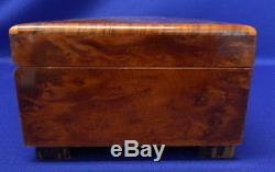 Reuge Burl Walnut 52 Note Music Box