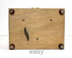 Reuge Burl Wood 36 Note Music Box 2-Tunes Waltz & Serenade