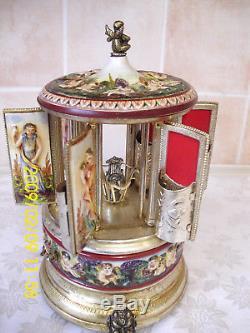 Reuge Carousel Music Box Cigarette Holder Made Italy Laras Theme Doctor Zhivago