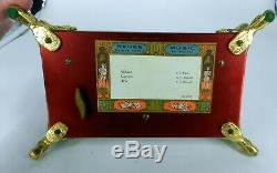 Reuge Ch 3 / 72 Sainte Croix Heavy Glass Ormolu Dolphin Feet Music Box Gorgeous