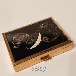 Reuge Compact Music Box'Madre Perla' Mother of Pearl Inlay & Pink Diamante