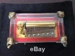 Reuge Crystal Glass Music Box 72 Notes