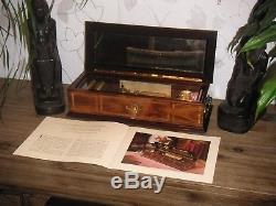 Reuge Cylinder Music Box 10 Songs Spieluhr mit 5 Walzen Walzenspieluhr 10 Lieder