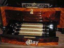 Reuge Cylinder Music Box 15 Songs 5 Cylinder Swiss 72 Walzenspieluhr Uhr Clock