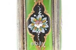 Reuge Italian carousel Music Box Lipstick Cigarette Holder Painted Flowers 11