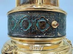 Reuge Leather Lipstick Carousel Music Box Made in Italy