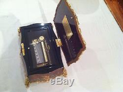 Reuge Music All Time Masterpiece With Gorgeous Inlay And 24k Gold Plated Frame
