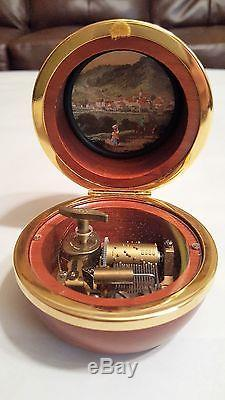Reuge Music Babingo Wood Musical Picture Frame Sphere Box- Everything I Do I do