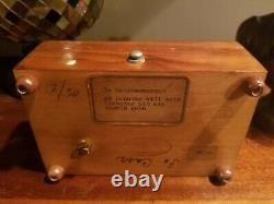Reuge Music Box 50 Note 2 Song Burl Wood Swiss Antique great working condition