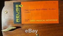 Reuge Music Box CH3/72, Piano Concerto No. 21, Elvira, Mozart, 3 parts