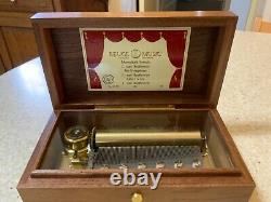 Reuge Music Box CH 3.72. Plays 3 Beethoven Pieces. Swiss Made. 1 Owner