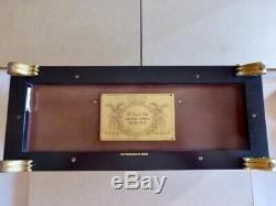 Reuge Music Box, Franklin Mint, 5 cylinder-10 arias-50 note, See/Hear on Video