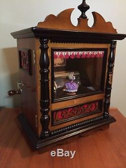 Reuge Music Box Railway Station Box w Dancer Rare Three 72 Notes Coin Operated