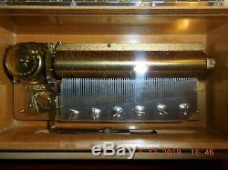 Reuge Music Box Rare 1970's 3/72 Swiss Melodies Walnut Veneer (please See Video)