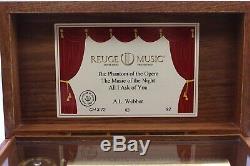 Reuge Music Box Spieluhr Auberson CH3.72 3 Melodien von A. L. Webber 72 notes