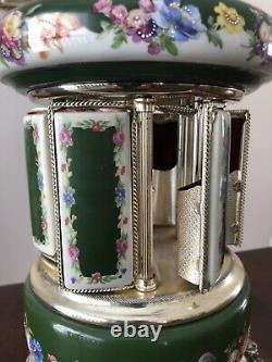 Reuge Music Box Swiss Ballerina Lipstick/Cigarette Holder Carousel
