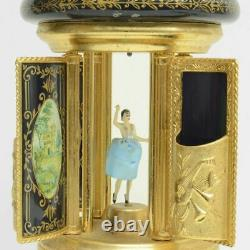 Reuge Music Box Vintage Swiss Cigar Stand Ballerina Cigar Holder Japan