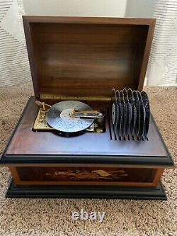 Reuge Music Box With 9 Disks