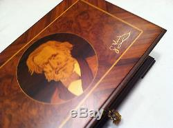 Reuge Music Exclusive G. Verdi Hand Inlaid Music Box With Three Songs 72 Note Mov