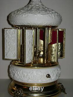 Reuge Music Love Story Swiss Movement Lipstick Holder Carousel Rare Italy