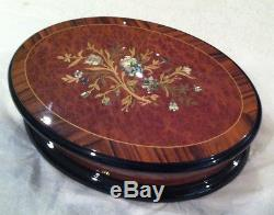 Reuge Music Mother Of Pearl 72 Note Music Box- Piano Concerto#2 -S. Racmaninov