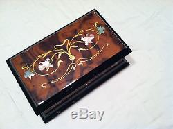 Reuge Music Mother of Pearl 30 Note Inlaid Music Box-The Spring A. Vivaldi