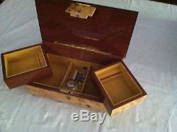 Reuge Music Musical Jewelry Box With 30 Note Movement-Tristesse F. Chopin