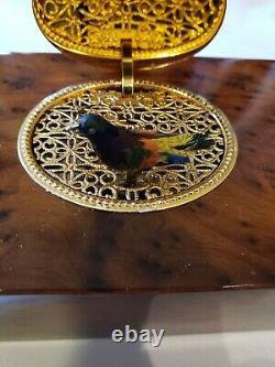 Reuge Music Rectangular Mechanical Singing Bird Box