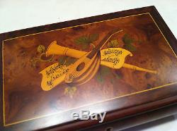Reuge Music Traditional Vintage Music Box With 36 Note-L'Amour Est Bleu