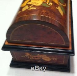 Reuge Music Treasure Chest 4-1/2 Disc Movement Music Box With Set of Six Discs