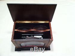 Reuge Music Upright 4-1/2 Disc Music Box With Set Of Six Discs