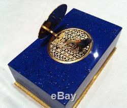 Reuge Music Very Rare, Real Lapis-lazulit Mechanical Singing Bird Box