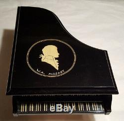 Reuge Music W. A. Mozart Musical Jewelry Piano Box Playing Magic Flute