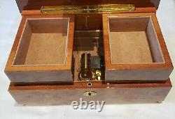 Reuge Musical Jewelry Box playing 30 note- 18th Variations on a theme Paganini