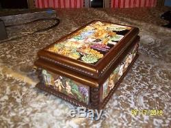 Reuge Rare Capodimonte 50 Note Music And Jewelry Box Very Nice
