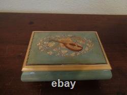 Reuge Romance Inlaid Wood Jewelry Music Box # 5984 Plays New York New York