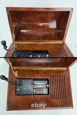 Reuge Romance Treasure Chest Disc Music Box w 6 Discs