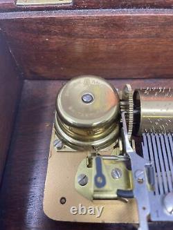 Reuge Saint Croix Music Box CH 4/50 Four Tune Tschaikovsky Swiss MVMT
