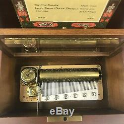 Reuge Sainte Croix Blue Danube, Lara's Theme, Edelweiss CH 3/72 Swiss Music Box