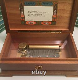Reuge Sainte-Croix MusicBox 4/50 Note Movement, 4 German FolkSongs SWISS MADE