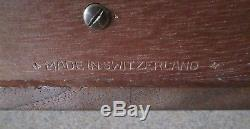 Reuge Sainte Croix Music Box 3 Parts Swiss Songs 3/72 8 x 4
