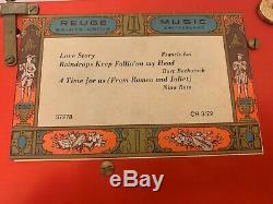 Reuge Sainte-Croix Music Box 3 Songs 72 Tines 3/72 Dolphin Legs