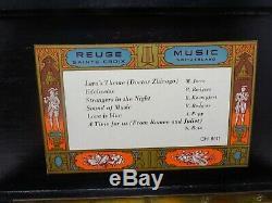 Reuge Sainte-Croix Music Box Switzerland Swiss 6/41 Wood Rose Inlay 6 Song