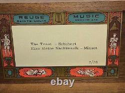 Reuge Sainte Croix Swiss Music Box Trout & Schubert LITTLE NIGHT MUSIC 2/28