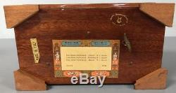 Reuge Sainte Croix Switzerland 3 Tune 72 Tooth Mozart Wooden Music Box