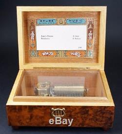 Reuge Sainte Croix Switzerland Music Box 2/36 Lara's Theme and Edelweiss