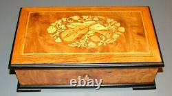 Reuge Sainte Croix Switzerland Music Box 37208 Ch 3/72 Beethoven 5th 6th 9th