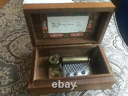 Reuge Sainte Croix Switzerland Music Box 3 Songs in Excellent working Condition