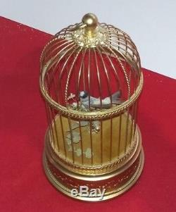 Reuge Singing Bird Cage Automaton Music Box (Watch Video)