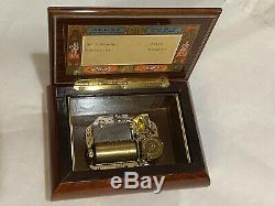 Reuge St Croix Swiss Music Box 2/36 Plays Edelweiss & Dr. Schiwago. GORGEOUS